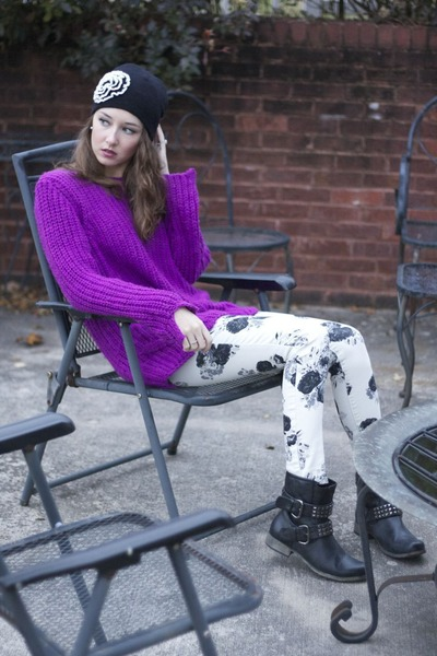 Purple Slouchy H&m Sweater