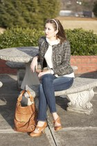tweed Old Navy jacket - next shoes - dark skinnies American Eagle jeans