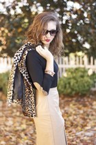cheetah jacket TJ Maxx jacket - TJ Maxx shirt - Forever 21 skirt