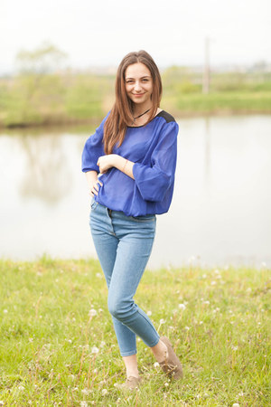 shoes - blue jeans - bluesoft blouse - necklace