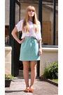 White-vintage-t-shirt-blue-vintage-skirt-white-vintage-belt-orange-les-3-s