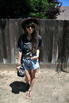black woven  red Sydnie hat - black tribal print San Jose Festival bag - sky blu