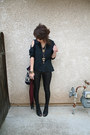 Black-express-shirt-black-snakeskin-claires-tights-black-lace-up-forever-21-