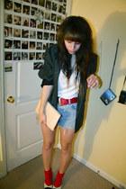 polyester Yoshi NOW blazer - Target shirt - Yoshi NOW shorts - walgreens socks -