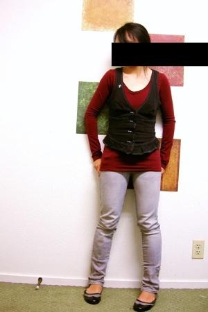 forever 21 shirt - vest - PacSun jeans - shoes