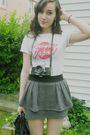 Gray-mandees-skirt-gold-mark-white-charlotte-russe-shirt-black