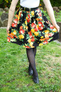 Black-handmade-skirt-carrot-orange-princess-highway-coat