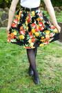 Black-handmade-skirt-carrot-orange-princess-highway-coat