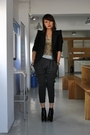 Black-the-ramp-blazer-gray-streetbeat-boutique-black-topshop-shoes-