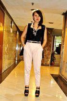 pink Zara pants - vest - black Zara - black Soule Phenomenon