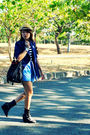 Love-vintage-manila-blazer-blue-dark-white-shorts-black-soule-phenomenon-sho