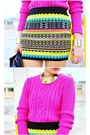 Hot-pink-knitted-f21-sweater