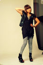Black-from-a-bazaar-top-black-the-ramp-black-boots-topshop-blue-zara-sho