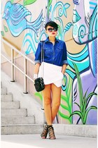 ivory origami skort skirt - blue Wrangler Philippines shirt
