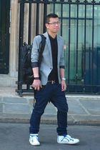 Raf Simons shirt - maison martin margiela jeans - Hermes belt - balenciaga brace