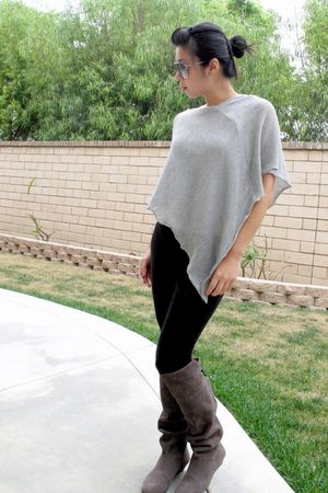 Nordstrom boots - tights - sweater - Aldo glasses