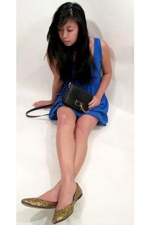 Zara purse - TJ Maxx dress - Nine West shoes