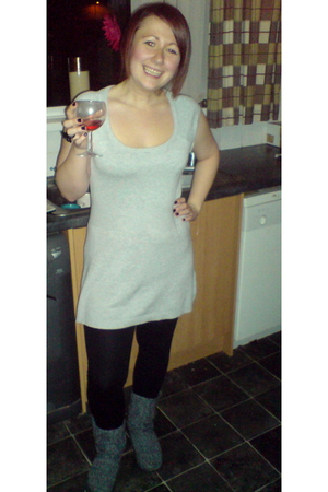 Ebay dress - dunnes stores leggings - tesco boots