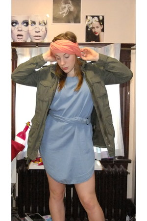 Only dress - H&M jacket - American Apparel scarf