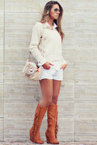 Charlotte Russe boots - canal shorts