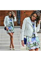 white leather jacket Chiclet Store jacket