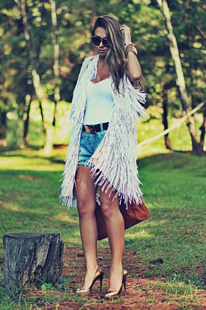 bronze Moikana bag - silver Moikana shorts - cream Moikana vest