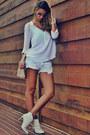 White-schutz-boots-white-zara-shirt-light-blue-denim-canal-shorts