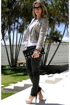 black silver Zara jacket - Zara pants