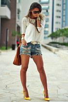 tawny Moikana bag - silver Moikana shorts - white Moikana blouse
