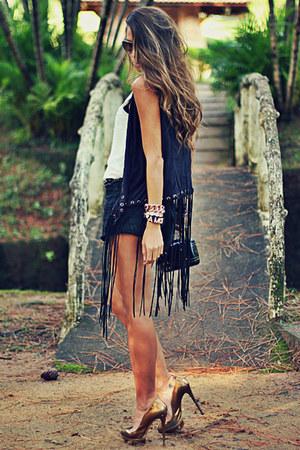 black Le Charm bag - black Forever 21 shorts - mustard Schutz heels