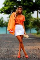 Miss Mimi blazer - eggshell Ligada na Moda bag