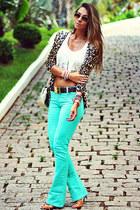 aquamarine MacStile pants - light brown Chiclet Store cardigan