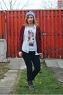 C-a-t-shirt-h-m-jeans-lefties-jacket-denim-new-yorker-shirt