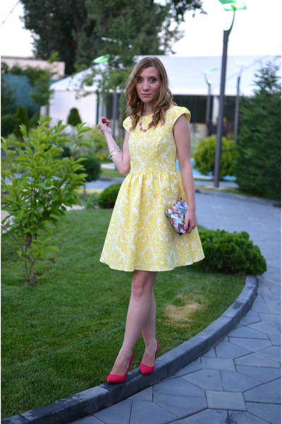 Zara shoes - new look dress - DIY bag - Koton necklace