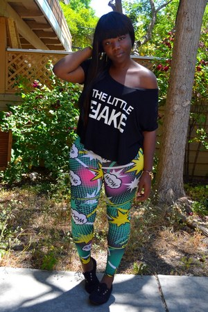 comics leggings GoJane leggings - romwe top