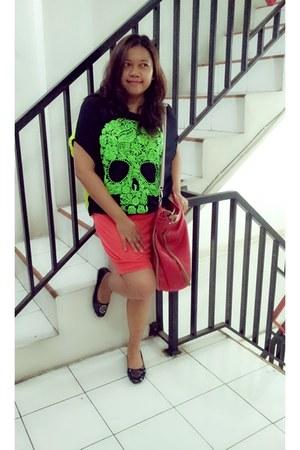 chartreuse neon skull no brand shirt