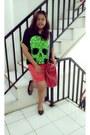 Chartreuse-neon-skull-no-brand-shirt