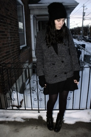 H&M hat - Aldo shoes - Forever21 dress - H&M sweater