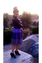 twelve by twelve skirt - Dolce Vita shoes - Express jacket - Target top
