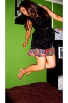Wet Seal dress - Forever 21 skirt - Forever 21 belt - twelve by twelve sweater -