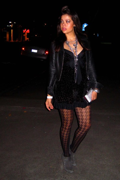 Express necklace - Forever 21 - Betsey Johnson intimate - Express tights - me to