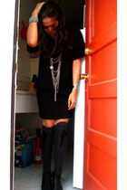 Zara dress - Target socks - Dolce Vita shoes - Forever 21 necklace - Stuff brace