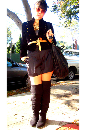vintage jacket - Forever 21 shorts - Ralph Lauren belt - random necklace - Monse