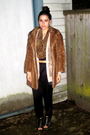 Brown-my-great-grandmothers-coat-black-forever-21-pants-beige-rodarte-x-targ