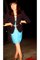 liz claiborne dress - Vintage from Buffalo blazer - Ralph Lauren belt - Beauty &