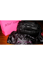 black Betsey Johnson purse