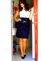H&M dress - NY&CO belt - michael antonio shoes - Betsey Johnson sunglasses