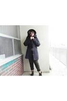 Topshop boots - mendocino coat - Topshop hat - American Apparel pants