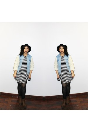 light blue UNIF jacket - brown Steve Madden boots