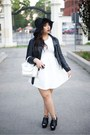 Black-topshop-shoes-white-mendocino-dress-black-h-m-hat-black-h-m-jacket